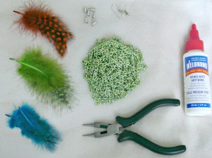 P1010020 300x224 How to Make Feather Shoulder Duster Earrings {diy}