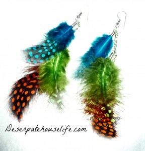 P1010071 288x300 How to Make Feather Shoulder Duster Earrings {diy}