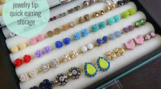 Quick Earring Storage
