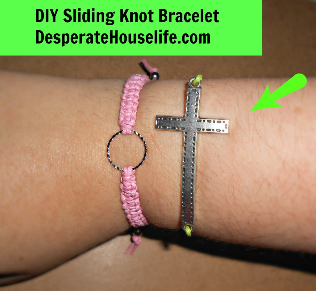 Cross Sliding Knot Bracelet DIY1 1024x942 Cross Sliding Knot Bracelet {DIY}