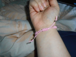 DSCN1123 300x225 Cross Sliding Knot Bracelet {DIY}