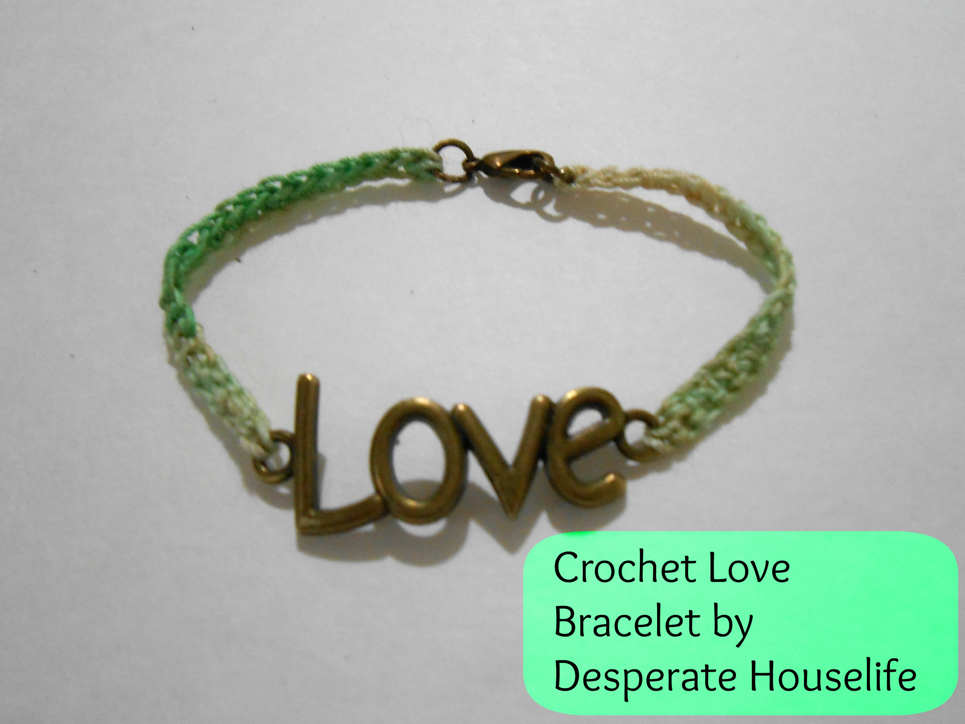 Crocheting Bracelets : Ombre Crochet Love Bracelet {diy}