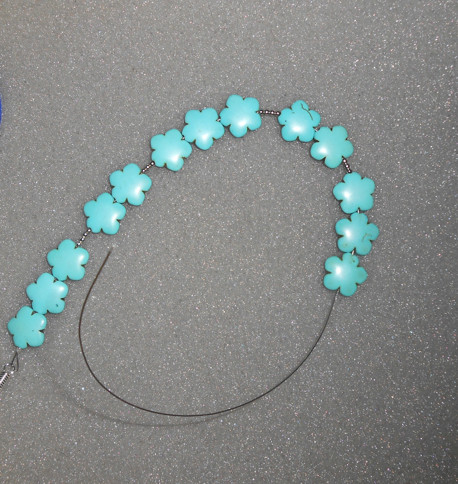 Diy turquoise statement necklace tutorial 3