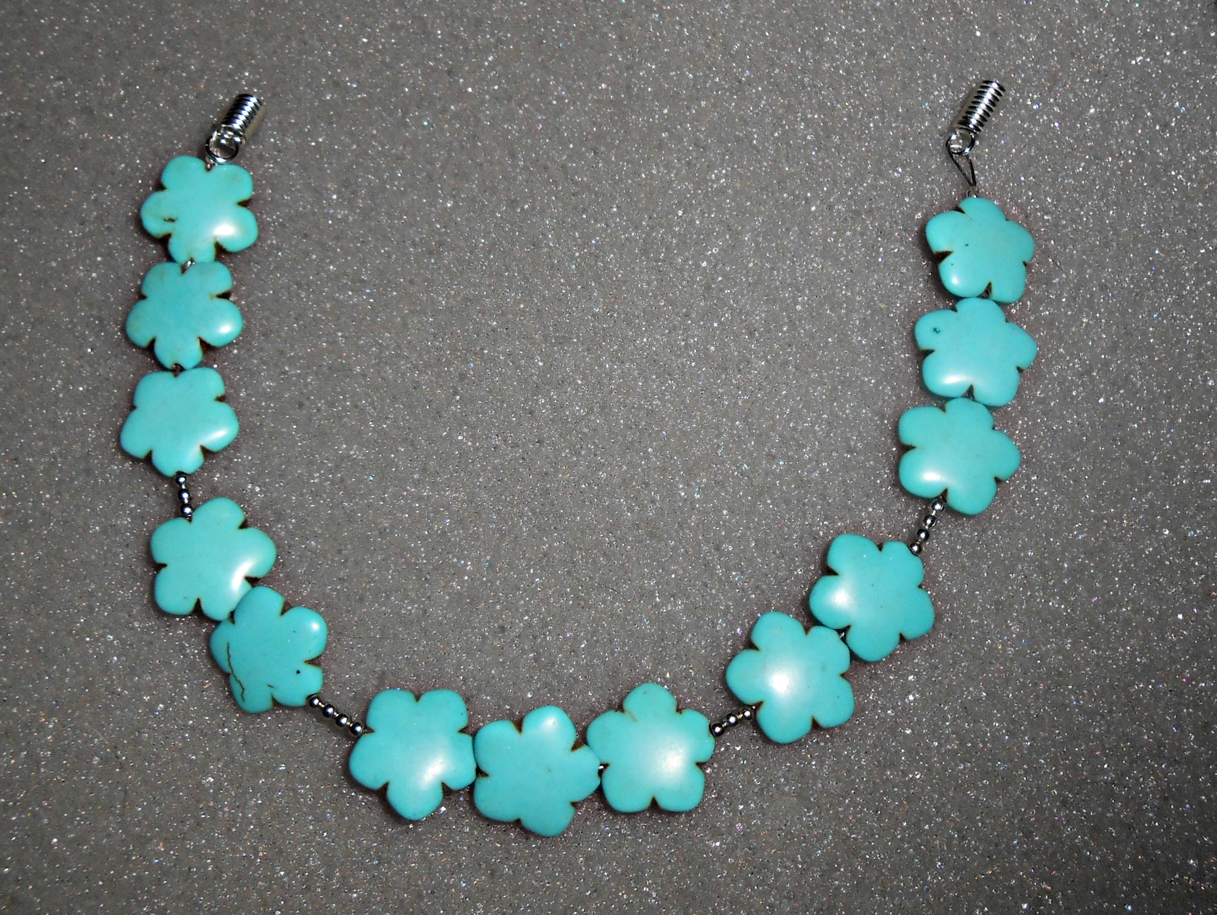 Diy turquoise statement necklace tutorial 4